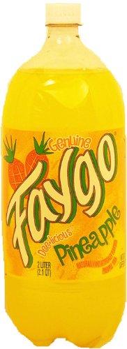 Faygo pineapple flavor soda, 2-liter plastic bottle