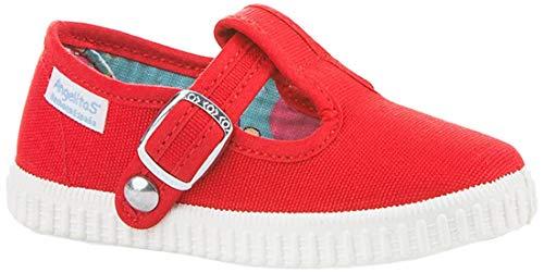 Zapatillas Pepito de Lona para Niños, Angelitos mod.122, Calzado infantil Made in Spain, Garantia de Calidad. (24, Rojo)