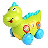 YoSpot Musical Dinosaur Toy with Lights and Sounds for Infants, Babies & Toddlers - Teaching, Learning, Activity, Walking & Fun Action Interactive Learning Development