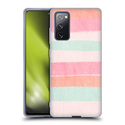 Official Charlotte Winter Pastel Brush Stripes Soft Gel Case Compatible for Samsung Galaxy S20 FE / 5G
