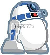4 Inches R2-D2 R2D2 White Egg Bird Angry Birds Star Wars Removable Peel Self Stick Adhesive Vinyl Decorative Wall Decal Sticker Art Kids Room Home Decor Girl Boy 3x4 Inch