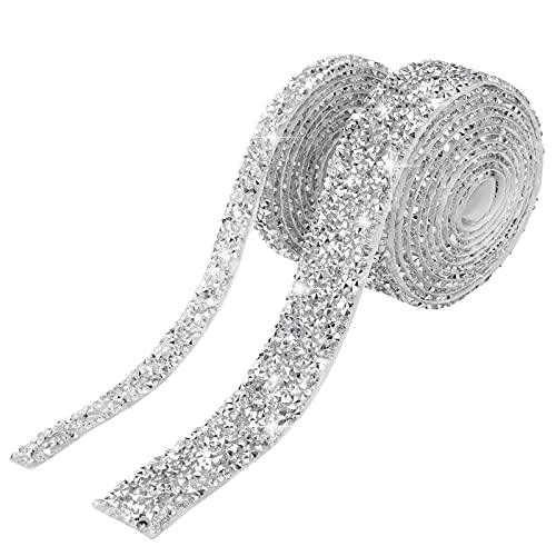 AIEX 2 Tiras 2m Diamantes Cintas Autoadhesivas Cintas de Cristal Cintas Brillantes...