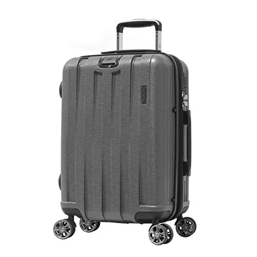 Olympia Sidewinder 21' Exp. Carry-On Spinner (8-Wheel) w/TSA Lock, GRAY, 21 inch