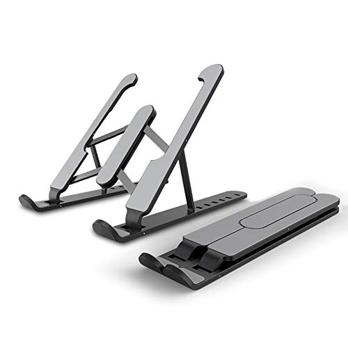 XIALIUXIA Ergonomic Computer Stand, Portable Laptop Stand, Adjustable Laptop Holder Riser Computer Stand for Desk Notebook Stand Mount,A