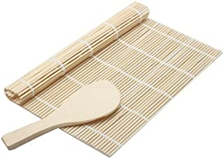 Sushi - Cooking Sushi Rolling Roller Bamboo Material Mat Maker Diy And A Rice Paddle - Art Dipping Hug Ornament Card Seaweed Case Beyond Tote Hand