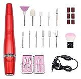 SHUHANG Taladros de uñas eléctricos Portátiles eléctrico de acrílico de acrílico Máquina de Amortiguador para el monómero líquido Polvo de Polvo (Color : Red, Size : 13x1.5cm)