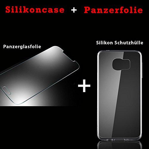 Eximmobile Silikon Case + Panzerfolie für Huawei Ascend Y530 Handyhülle mit 9H Echt Glasfolie Schutzhülle mit Schutzfolie Handytasche Silikonhülle Tasche Hülle Displayschutzfolie Displayschutz - 2