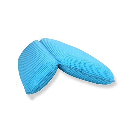 Bath Pillow Bath Cushion Bathing Pillow Spa Cushion With Neck Support For Bath Pillow Bath And Spa Head Rest Two Colors (blue Black) for Home Spa (Color : Blue, Size : 29 x 37cm)