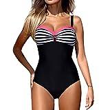 Vectry Bikinis para Mujer Tankinis para Mujer Bañadores De Mujer con Aros Bañadores De Mujer Dos Piezas Top Y Pantalon Traje De Baño Sexy Mujer Brasileño Bañador Mujer Color Puro Rosa