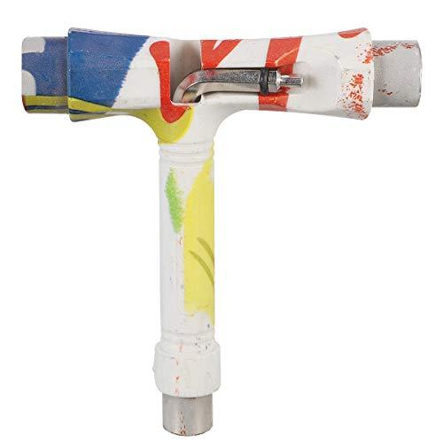 Abaodam Tragbares Multifunktions-Werkzeug für Skateboard, T-Werkzeug mit T-Inbusschlüssel und L-Phillips-Schraubenschlüssel.