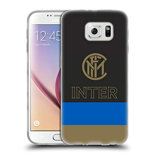 Head Case Designs Ufficiale Inter Milan Strisce Grafici Cover in Morbido Gel Compatibile con Samsung Galaxy S6