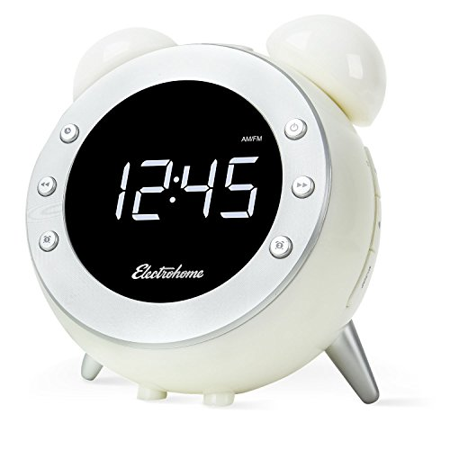 Electrohome Retro Alarm Clock Radio With Motion Activated Night Light (CR35W)
