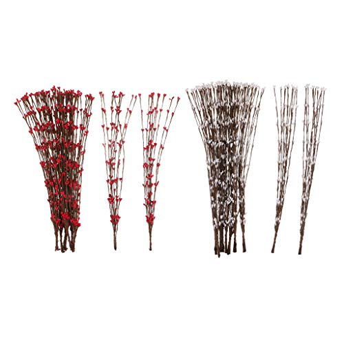 freneci 20 Artificial Flower Branch Stem Pip Berry Garland Party Wedding Centerpiece