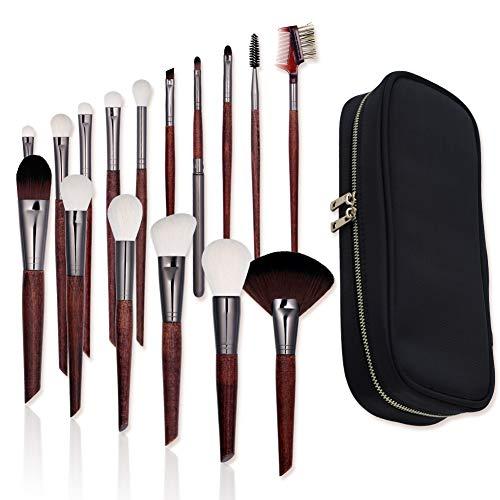 16 Maquillage Pcs-haut de gamme Brushese Set Kit-synthétique de haute qualité Fondation Blending fard à joues Kabuki Cosmetics Eyeliner Poudre pour le visage Brosse-maquillage Brush Set (sac de maquil