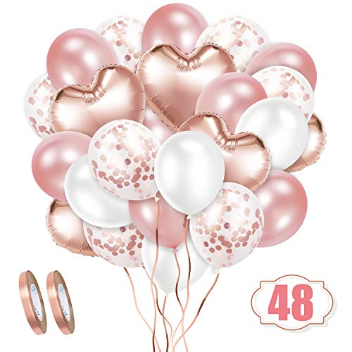 Crislove Rosegold Luftballon Set...