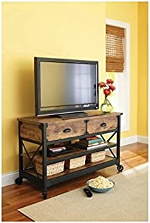 Better Homes Gardens Rustic Country Antiqued Black/Pine Panel TV Stand TVs up to 52