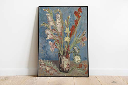 Vincent Van Gogh Print impressionist kunst muur kunst Van Gogh schilderij Van Gogh Vaas met Gladioli Bloem Schilderen