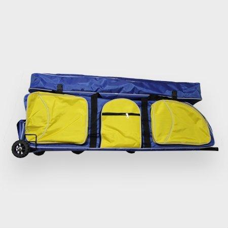 Jiang/Wuxi Fechttasche Rollbag Jumbo (Blau mit gelben Taschen)
