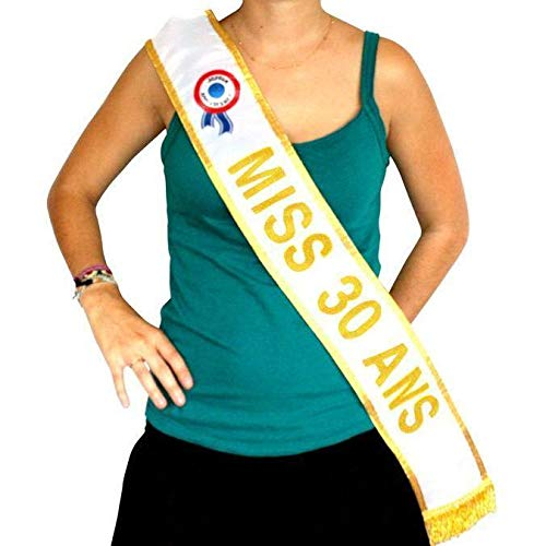 Générique Echarpe Miss 30 Ans