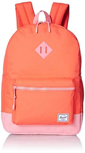 Herschel Kids' Heritage Backpack, Hot Coral/Flamingo Pink, Youth X-Large 22L