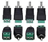 RCA Cable Audio Adapter RCA to AV Screw Terminal Connector,RCA...