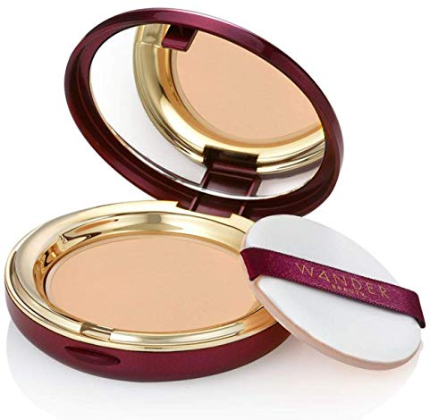 Powder Foundation - WANDER BEAUTY WANDERLUST - Medium - Vegan Makeup - Lightweight Powder Foundation Covers Everything, Silky Smooth, Natural, Matte Finish, Sheer to Buildable Full Coverage
