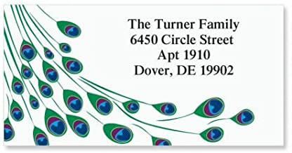 peacock return address labels