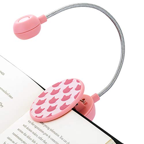 WITHit Dabney Lee Clip On Book Light – Meow – LED Reading Light for Books and eBooks, Reduced Glare, Portable, Lightweight, Cute Bookmark Light for Kids & Adults, Batteries Included