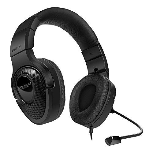 Speedlink Medusa XE Kopfhörer mit Mikrofon und Kabelfernbedienung für Playstation 4/PS4 (3,5mm, direkter Anschluss an den Controller) schwarz