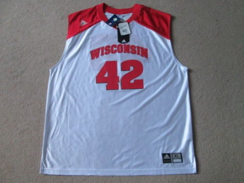Wiscinsin Badgers NCAA Basketball # 42Jersey Maglia Camicia–Uomo Extra Large NWT