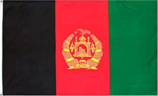 DANF Afghanistan Flag 3x5 Foot Polyester Afghan National Flags Polyester with Brass Grommets 3 X 5 Ft