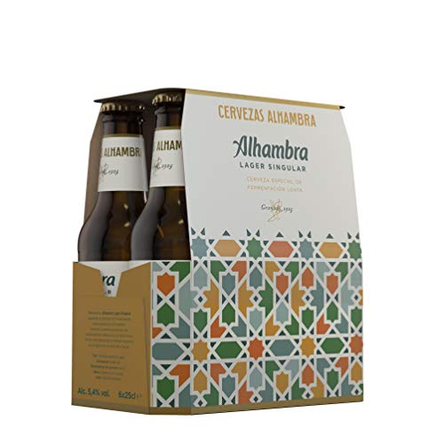 Alhambra Lager Singular Cerveza– Pack de 6 Botellas x 25cl – 5,4% Volumen de Alcohol