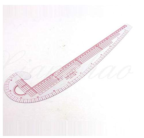 RZDEAL Regla de costura 3 en 1, sistema métrico, curva francesa, plástico para sastrería y patrones
