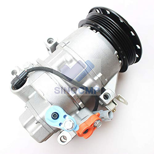 447260-1780 Aria Condizionata Compressore - SINOCMP AC Compressore per Toyota Yaris 1.3 Denso 5SER09C,3 mesi di garanzia