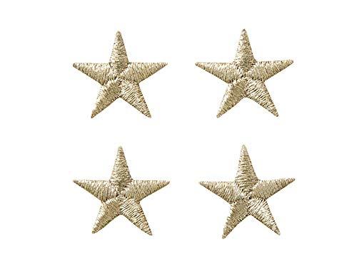 Applikationen - Fashion and Home - aufbügelbar Sterne ca. 1,7 cm silber 4 St