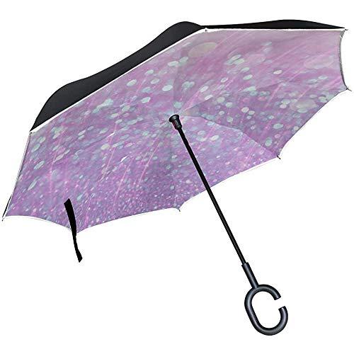 Alice Eva Umgekehrter Regenschirm-Rückregenschirm-Vertrag glänzender Netter schöner Malerei-Klappschirm-UVklappschirm-Stuhl