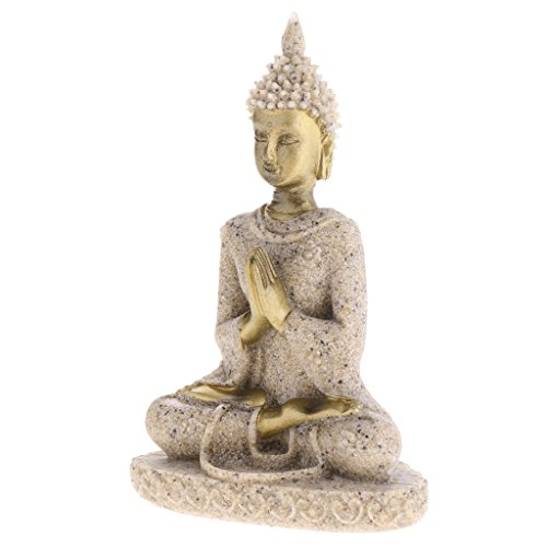 Baoblaze Buddism Buddha Ornaments Maitreya Fengshui Statue Sculpture Handmade Figurine for Home Desktop Office Decor
