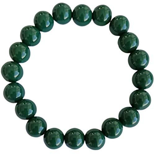 Natuxia Donkergroene toermalijnarmband vrouwen/mannen, Verdelith Helende steen sieraad, hart chakra armband, anti-angs armband