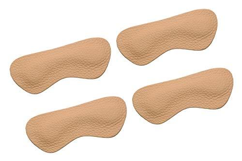 VSUDO Leather Shoe Heel Liner, Shoe Heel Insert, Heel Cushion Inserts, Heel Pads, Heel Insoles, Heel Grips, Design for Men or Women Loose Shoes, Protect Your Heel[2 Pairs-Brown-Leather]