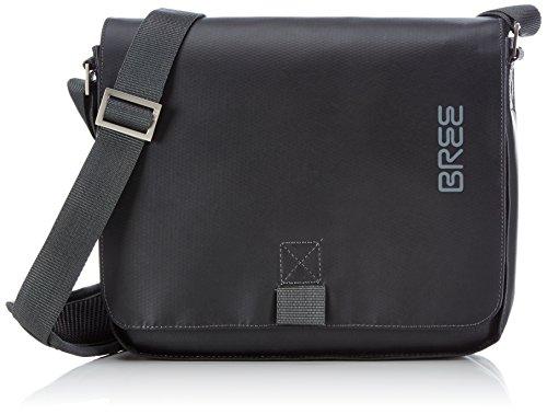 BREE Pnch 61, black, shoulder bag 83900061 Unisex-Erwachsene Schultertaschen 26x6x21 cm (B x H x T), Schwarz (black 900)