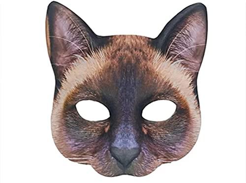 Máscara de niña gato WHXL, máscara de gato de mascarada, máscara misteriosa de fiesta navideña