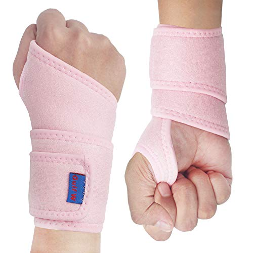 2Pack Version Profession Wrist Support Brace, Adjustable Wrist Strap Reversible Wrist Brace for...