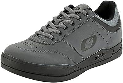 O'NEAL | Mountainbike-Schuhe | MTB Downhill Freeride | Vegan | Ultimatives Gleichgewicht zwischen Grip und Fußpositionierung, atmungsaktiv | Pumps Flat Shoe | Erwachsene | Grau Schwarz | Größe 46