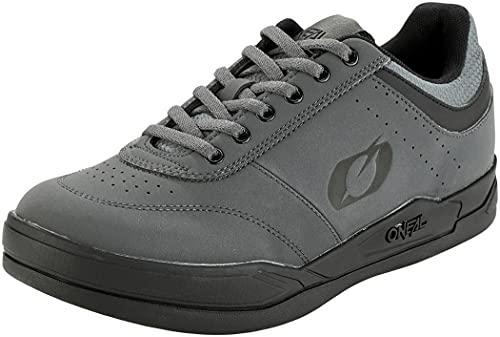 O'NEAL | Chaussures de vélo | VTT DH FR Descente Freeride | Matière Respirante, Bon équilibre Entre adhérence et positionnement du Pied | Chaussures Plates Pumps Flat | Adulte | Gris Noir | Taille 38