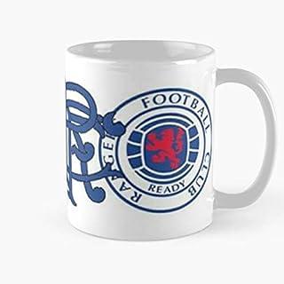 Scotland Football Rangers Ibrox Glasgow Badges Scottish Comma Celtic Hampden Taza de café con Leche 11 oz