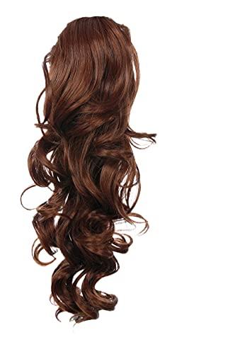 Prettyland - 60cm Extension Clip di estensione dei capelli ponytail della clip coda di cavallo ricci Haarteil- R06