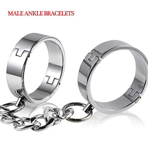 COSY-L SM Handschellen für Bondage Edelstahl Fesseln Handschellen für Sex - Heavy Duty Universalmanschette für Paare und Liebhaber,Male Ankle Bracelets