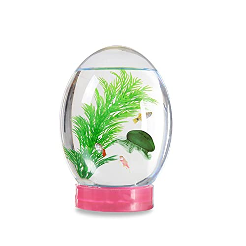 ZHANGLE LED Base Aquarium, 18cm Höhe Ecosphere Aquarium, Geschlossen Aquatic, 7 Farben für Dekor Einzigartige Geburtstagsgeschenke