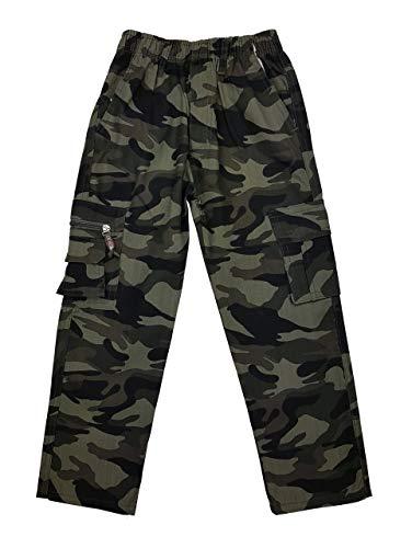 Fashion Boy Jungen Army Tarnhose in Grün Camouflage, Gr. 110/116, J8159.6