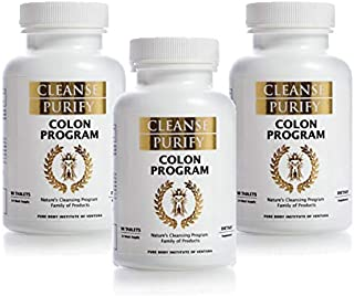 Colon Program (Starter Pack of 3 Bottles-270 Tablets) Nature's Cleansing Program Family of Products - Cleanse Purify